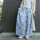 花柄ロングワイドパンツ