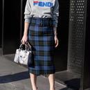 Check skinny skirt
