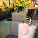 ring handle fur bag