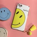 《即納》スマイルiPhone7チャーム付きケース♡ニコちゃん