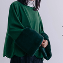 《即納》merlot♡ボリュームファー裾スカラップトップス♡