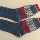 手編みの靴下(ノルディックB)