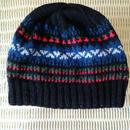 手編みのニット帽(フェアアイルC)