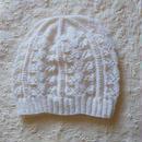 春のニット帽(ホワイト)