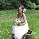 【生花】こだわりクラッチブーケとブートニアとヘアパーツ¥21,600送料無料