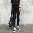 skinny denim《black》