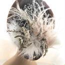 【ふんわりと優しい空気をまとったエンジェルのヘッドドレス/髪飾りプリザーブドフラワー・ドライフラワー/ウェディング】