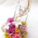 【プリザーブドフラワー/ガラスの靴リングピロー/ウェディング】ラプンツェルの金色の髪の魔法とプリンセスの自由と幸せ