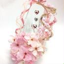 【プリザーブドフラワー/ガラスの靴シリーズ】桜の靴にふんわりとリボンをかけて【限定商品 】