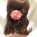 【プリザーブドフラワー/ヘアアクセサリーシリーズ/本当の紫陽花の髪飾り】甘い夢で目覚めた朝に選びたい。桜色とベリーピンクのスゥイートな髪飾りミニサイズ