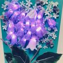 【ファンタスティックに光り輝く魔法の花・イルミネーションフラワー/キャンバスアレンジ/プリザーブドフラワー】
