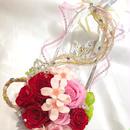 【プリザーブドフラワー/ガラスの靴シリーズ】ラプンツェルのティアラと金色の髪の魔法とプリンセスの自由と幸せと愛