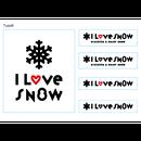 I LOVE SNOW ステッカー  Type B