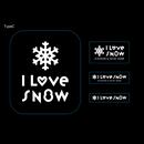 I LOVE SNOW ステッカー  Type C