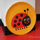 北欧雑貨 メラミンプレート 「 Ladybug (テントウムシ)」
