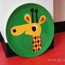 北欧雑貨 メラミンプレート 「 Giraffe  (キリン)」