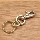 真鍮 / ナスカン (小)と2重リングのセット/キーホルダー/キーリング