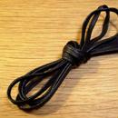 黒/平紐/ロウ引き/4mm幅
