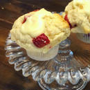 苺&ホワイトチョコ マフィン   Strawberry & White Chocolate Muffin Vegan