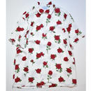 Black Weirdos /  RoseSkull Aloha Shirt (White)