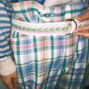 Argyle check Ring belt