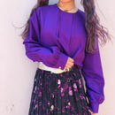 Purple pin tuck blouse