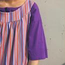 Purple henley neck T shirt