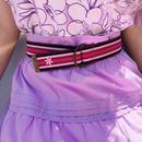 Flower pink ring belt