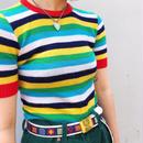 Rainbow chibi knit