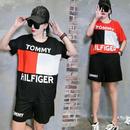 新入荷 トミーヒルフィガー Tommy Hilfiger 上下セットアップ 半袖 男女兼用 人気
