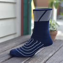 [Strawfoot] Speed Block Socks : Navy