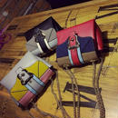[バッグ]♪カラー配色 チェーンクロス ショルダーバッグ(3color)♪