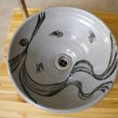 絵唐津鳥文様一品物 手洗い鉢
