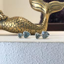 Double Blue Topaz Studs