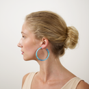 Large Hoops in French Coast Blue