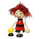 チェコおすわり人形サッカー少年レッドブラック LUMAZ+ブランコ