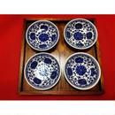【香港☆景徳鎮制】藍色 小皿 2枚=1set  / デイリーユースのお揃い食器