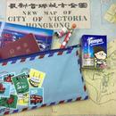 【香港☆Passage】切手柄が素敵な横長ポーチ / 限定品☆小物の収納に便利