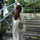 【香港☆Dreamy】トートバッグ(内側:赤ドット)/ 西瓜坊や