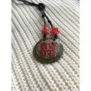 【香港☆囍】大ぶりチャーム「囍」ネックレス  /  Double Happiness Necklace