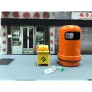 【香港☆微影】垃圾筒 ミニチュア  1/18SCALE  /  橙色のゴミ箱
