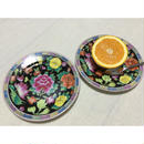 【香港☆縁模様入り】シノワズリフラワー  中皿  /  食卓が華やかに G-5891