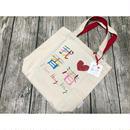【香港☆canvas bag】「我 ♡ 香港」トートバッグ /  シンプルで素敵な「I ♡ Hong Kong」