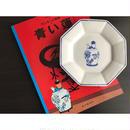 【香港☆粵東磁廠】(手書き)TINTINの八角皿・中皿・取り皿  / Yuet Tung China Works