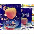【香港☆Tempo】<Revised>「桃」 使い捨てハンカチ「香り付き」(ティッシュ)18pcs / 1パック