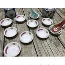 【香港☆瓷碟】「紅梅」豆皿  /  2P=1set