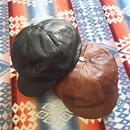 【SALE】 Nasngwam. 『WAITS CAP (LEATHER) 2color』