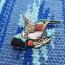 NATIVE JEWELRY 『70's HUMMING BIRD PIN BROOCH』