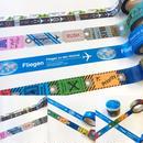 Fliegen マスキングテープ(ランウェイ、飛行機地図柄それぞれ2種セット)