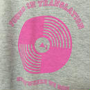 SBレコードモチーフプリントしっとりTシャツ グレー Lサイズ